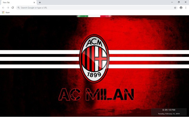 AC Milan New Tab & Wallpapers Collection