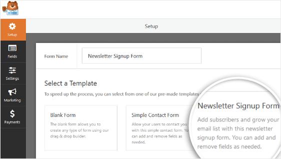 create mailchimp forms