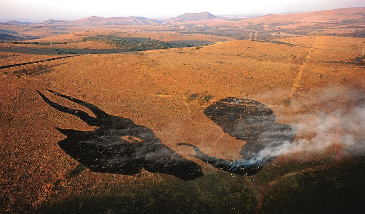 The fact that these works [like Eland and Benko, a controlled burn] are ephemeral is a conscious decision: Hannelie Coetzee. Picture: TERRACAM