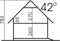 Domek Ciepły 012 BK + Z - Przekrój