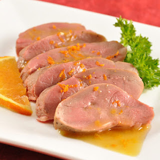 Seared Duck Breast with Orange Brandy Sauce
