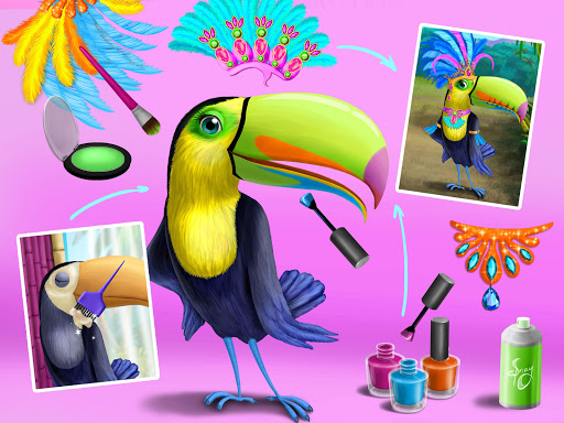 Jungle Animal Hair Salon - Styling Game for Kids android2mod screenshots 14