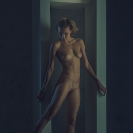 maybe by Dmitry Laudin - Nudes & Boudoir Artistic Nude ( studio, beautiful, light, nude, girl, body, darkness, posing )