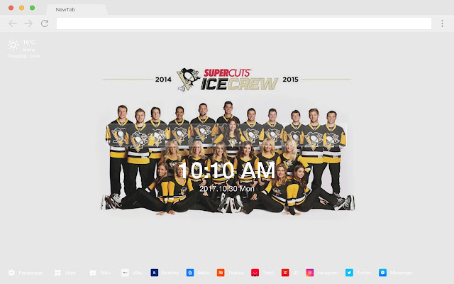 Pittsburgh Penguins Popular HD New Tab Theme