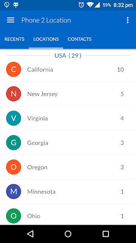 Phone 2 Location - Caller ID Location Tracker Pro Screenshot