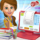 High School Book Store Cashier - Kids Game
