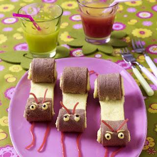 Sponge Cake Snails.