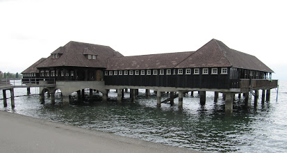 Photo: Day 36 - 'Victorian' Bathhouse in The Town of Arbon on the Bodensee Lake Coast