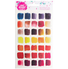 Jane Davenport Mixed Media Rub-Ons 2/Pkg - Brights UTGÅENDE