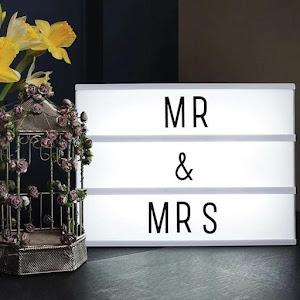 Caseta luminoasa LED, 100 litere/simboluri, 31 x 5 x 22,5 cm