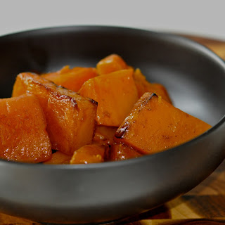 Roasted Butternut Squash with Pomegranate Glaze
