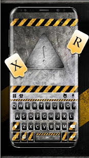 Download Metal Warning Line Keyboard Theme For PC Windows and Mac apk screenshot 1