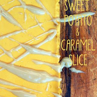 Sweet Potato and Caramel Slice