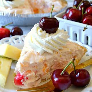 No-Bake Ambrosia Cheesecake Pie.