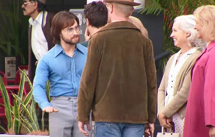 Daniel Radcliffe, playing the role of Tim Jenkin, encounters '1970s Capetonians' on the set of 'Escape from Pretoria' in Adelaide on March 13 2019.