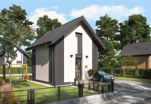 projekt Lido A dom letniskowy na zgłoszenie do 35 m2