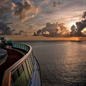 Sunrise in the Caribbean by Gary Pope - Landscapes Travel ( cruiseship, travel, sunrise, caribbean )