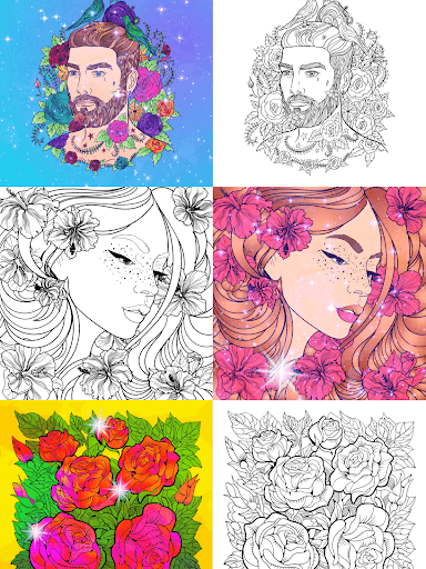 No.Paint - Relaxing Coloring games apkdebit screenshots 21