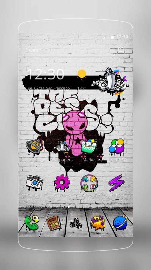 Graffiti Wall Backgrounds- screenshot