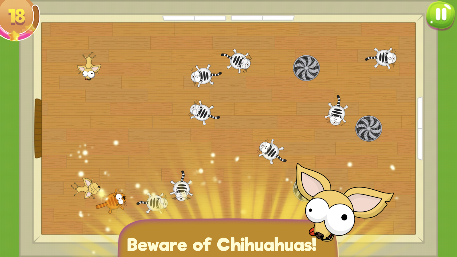 Flat Fat Cat Bounce: Crazy action puzzle- screenshot