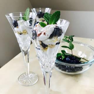 Toasted Oats & Blueberry Yogurt Parfaits.