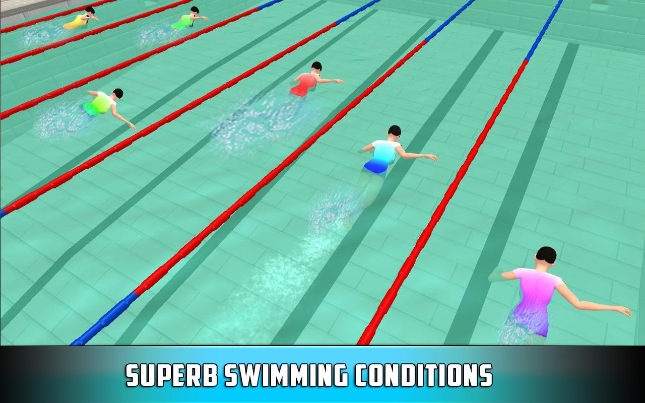3d Swimming Pool Race Race Against Best Swimmers Android Apps On Google Play