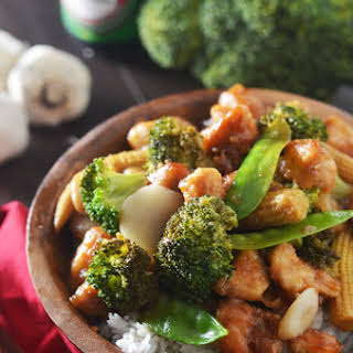 Chicken and Broccoli in Garlic Sauce.