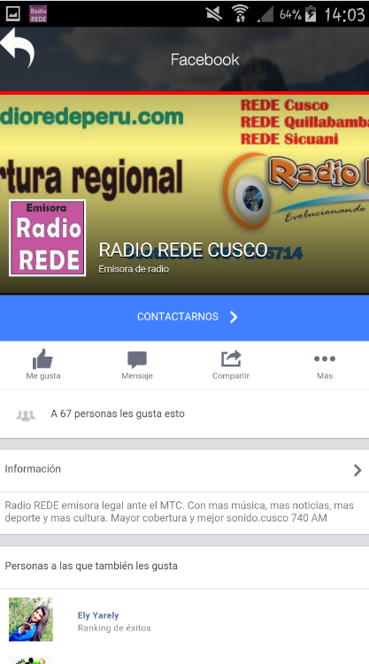 Radio Rede: captura de pantalla