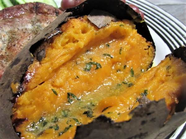 Baked Sweet Potatoes With Honey-mint Butter