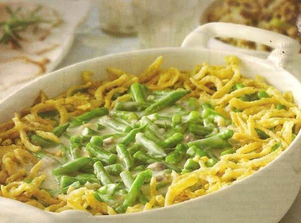 Cat's Kick-up Green Bean Casserole