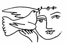 Picasso-Grafik: Mädchen mit Taube.