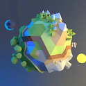 Planet Lowpoly 3D Live Wallpap icon