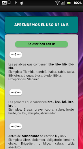 Learn to read in Spanish screenshot 18