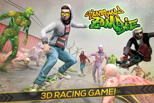 Skateboard Pro Zombie Run 3D 2.11.2 screenshots 1