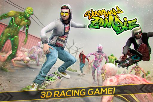 Skateboard Pro Zombie Run 3D 2.11.2 screenshots 1