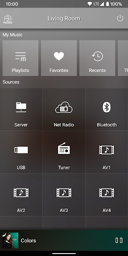 MusicCast CONTROLLER screenshot