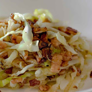 Low Carb Buttery Bacon and Cabbage Stir Fry.