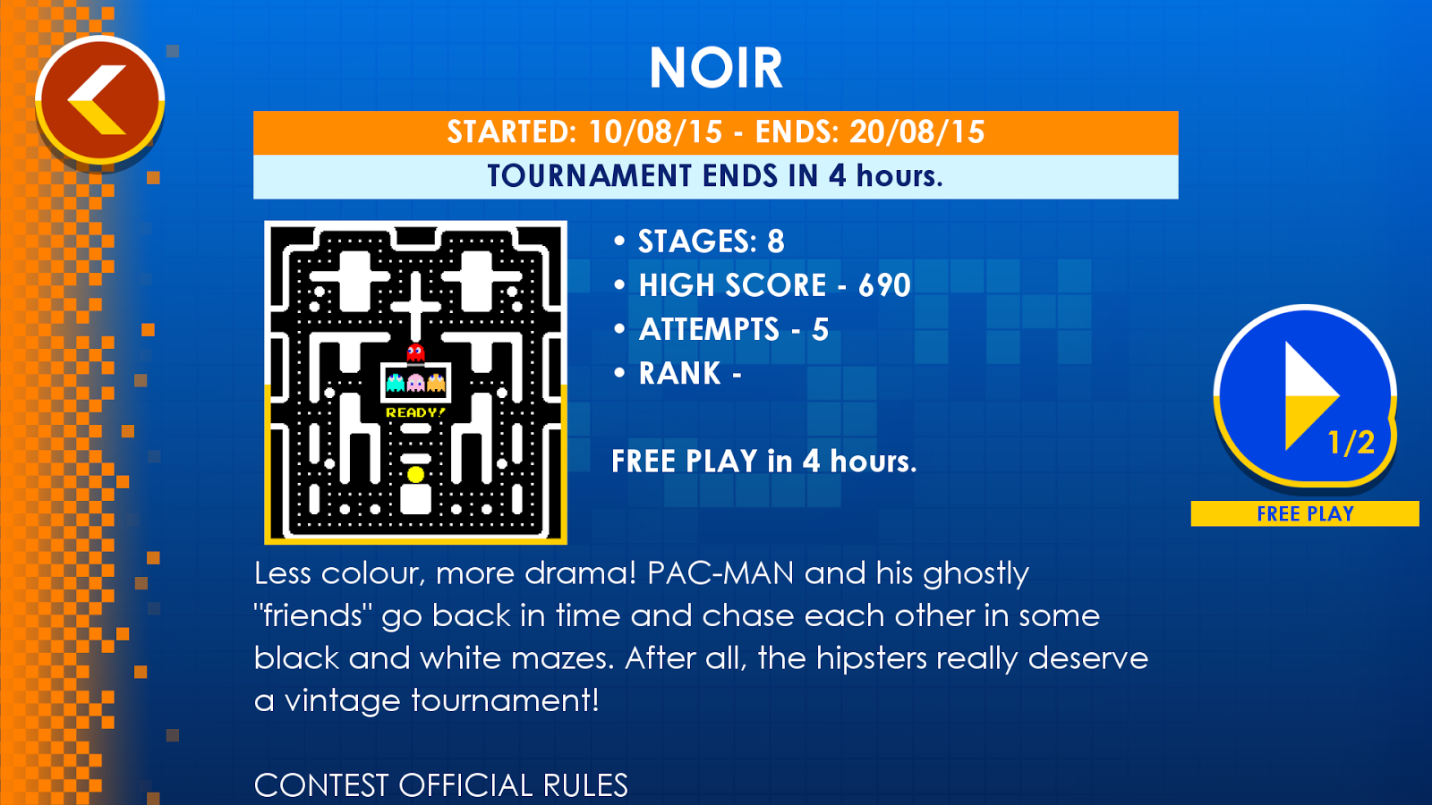 PAC-MAN +Tournaments- screenshot