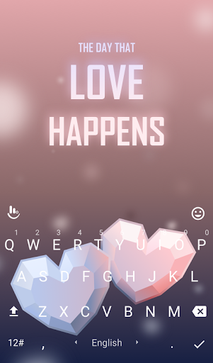 Love Happens Keyboard Theme