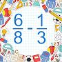Премиум Subtract Fractions Math Game временно бесплатно