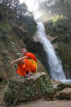 Photo: Day 277 - Monk at Tat Kuang Si Waterfalls (Laos)