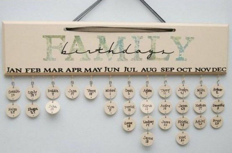 2. Семейный календарь Дней Рождения родных и близких. Милая и стильная вещица - напоминалка совет, хитрость