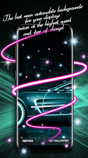 Neon Auto Animovaná Tapeta - náhled