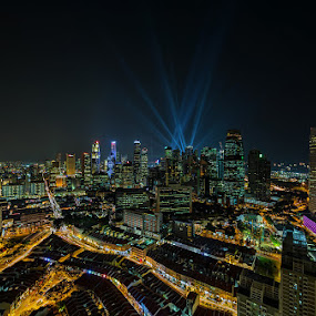 City Twilight by Partha Roy - City,  Street & Park  Skylines