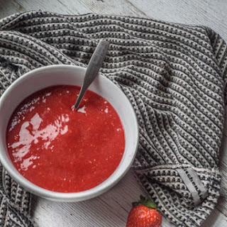 Strawberry Raspberry Sauce.