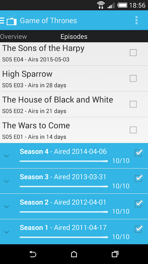 Show Tracker- screenshot