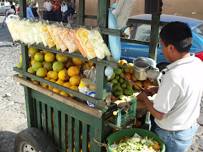 Photo: Street vendor selling fresh fruits.