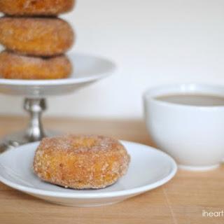 Baked Pumpkin Cinnamon Sugar Doughnuts.