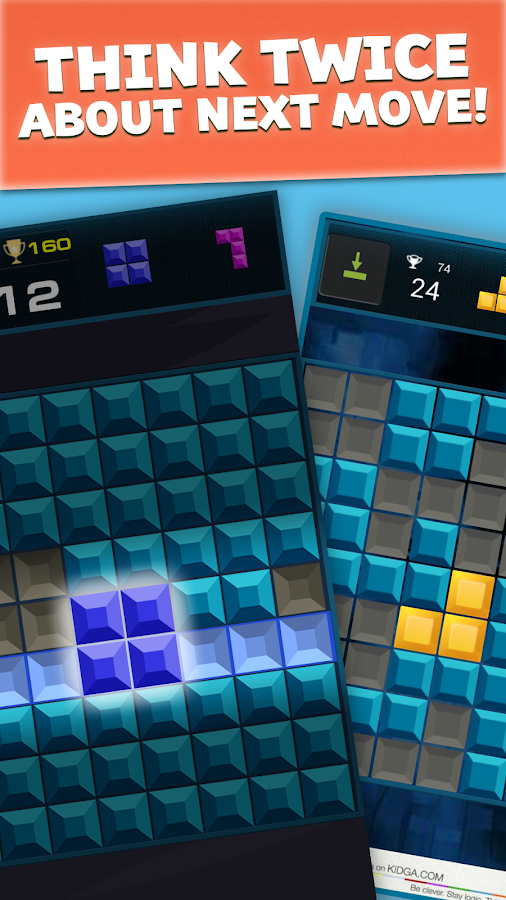 Quadris: clear rows puzzle- screenshot