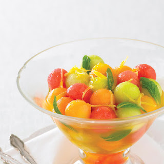 Trio of Melon Balls in Ginger Syrup